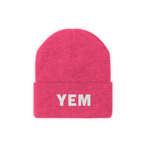 YEM Embroidered Knit Beanie