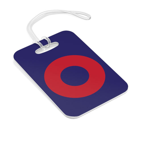 Red Circle Donut Bag Tag - Red Circle Donut - Luggage Tag - PH