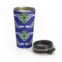 Load image into Gallery viewer, Phexico - Mexico Fishman Green Circle Donut Tumbler 15oz - Green Circle Donut - Donut Mug - Black Lid