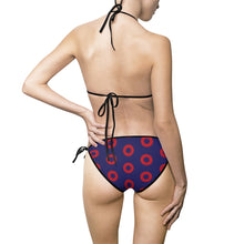 Load image into Gallery viewer, Red Henrietta Circle Donuts Women's Bikini Swimsuit - PH
