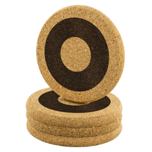 Load image into Gallery viewer, Henrietta Circle Donut Pattern Cork Coaster Set - PH