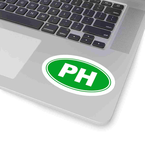 PH Euro Oval Sticker Solid GREEN