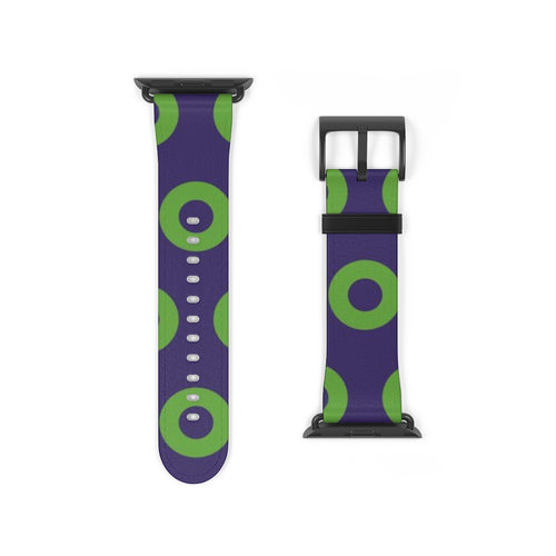 Phexico Mexico Green Donut Pattern - Watch Strap - Donut Pattern