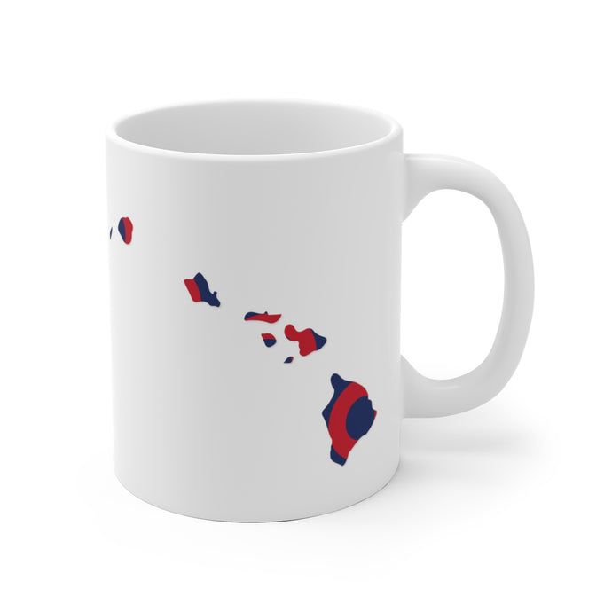 Hawaii, Red Circle Donut Coffee Mug - State Shape - PH