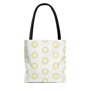 Kasvot Vaxt White Henrietta Circle Donut Tote Bag - PH