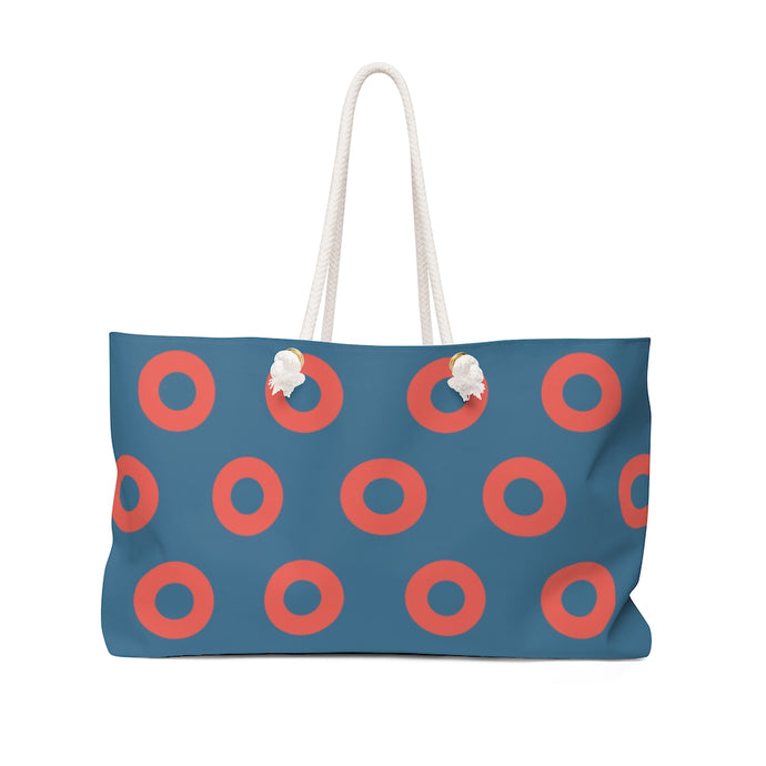 Fishman HEX Red Circle Donut Weekender Bag