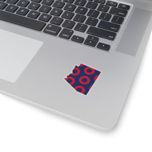 Arizona, Red Circle Donut Sticker - State Shape - PH