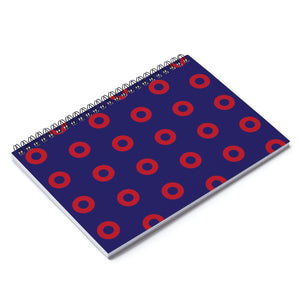 Red Circle Donut Spiral Notebook - Ruled Line - PH