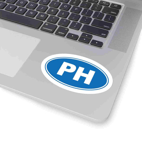 PH Euro Oval Sticker Solid BLUE