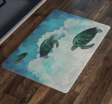 Load image into Gallery viewer, Turtles in the Clouds Doormat, 2018, Door Mat