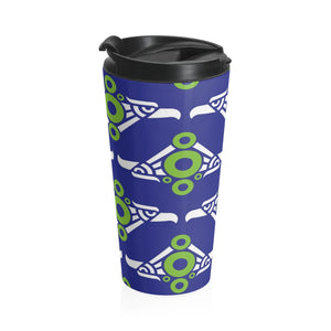 Phexico - Mexico Fishman Green Circle Donut Tumbler 15oz - Green Circle Donut - Donut Mug - Black Lid