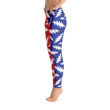 Load image into Gallery viewer, White Bolts on Blue and Red Leggings - 13 Points - GD
