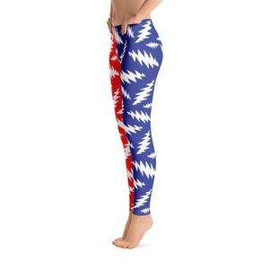 White Bolts on Blue and Red Leggings - 13 Points - GD