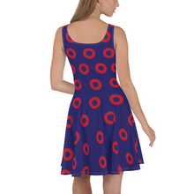 Load image into Gallery viewer, Red Henrietta Circle Donut Skater Dress - Medium Circles - Donut Dress - PH