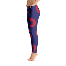 Load image into Gallery viewer, Red Circle Donut Leggings - Super Large Donuts - PH