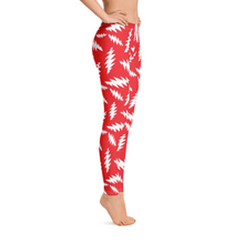 Load image into Gallery viewer, White Bolts Red White Leggings - 13 Points - GD