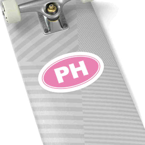 PH Euro Oval Sticker Solid PINK PINK