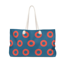 Load image into Gallery viewer, Fishman HEX Red Circle Donut Weekender Bag