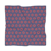 Load image into Gallery viewer, PH Red Circle Donut Poly Scarf