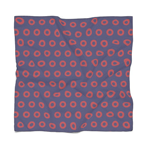 PH Red Circle Donut Poly Scarf