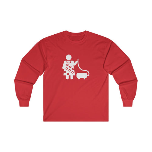 Vacuuming Ultra Cotton Long Sleeve Tee