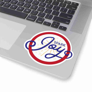 Spark JOY Red Circle Donut Henrietta Sticker