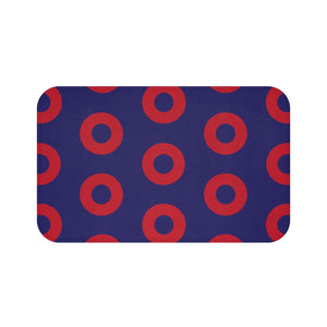 Red Circle Donut Bath Mat - PH