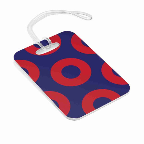 Red Circle Donuts Bag Tag, Red Circle Donut Luggage Tag, Medium Sized Donuts