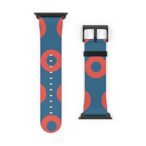 Fishman HEX Red Circle Donut Watch Strap