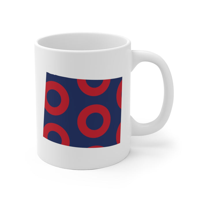 Colorado, Red Circle Donut Coffee Mug - State Shape - PH