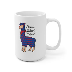 Taboot Llama Red Henrietta Circle Donut Ceramic Mug - PH