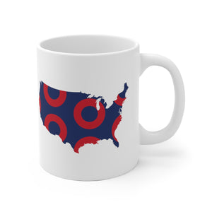 USA, American Tour, Red Circle Donut Coffee Mug - State Shape - PH