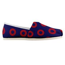 Load image into Gallery viewer, Womens Red Henrietta Donut Woven Slip-On Shoes - PH