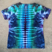 Load image into Gallery viewer, Tie Dye Womens V-Neck Tshirt - Medium
