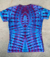 Load image into Gallery viewer, Tie Dye Womens V-Neck Tshirt - Small
