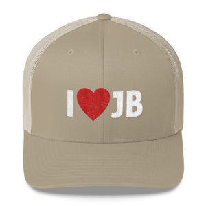 I Heart JB Embroidered Trucker Hat Cap