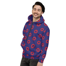 Load image into Gallery viewer, Red Circle Donut Unisex Hoodie