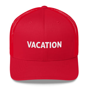 Vacation Embroidered Trucker Hat Cap