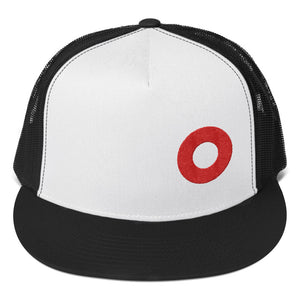 PH Hat Red Donut Embroidered Trucker Hat Cap