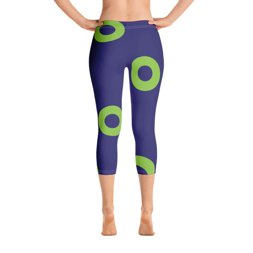 Phexico - Green Henrietta Donut 3/4 Leggings - Green Donut - PH