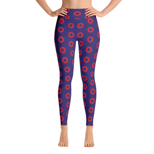 Red Circle Donut YOGA Leggings - PH
