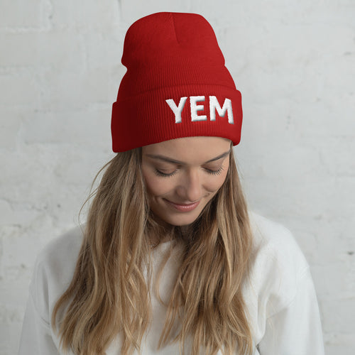 YEM Embroidered Cuffed Beanie - PH