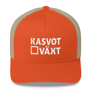 Kasvot Växt Embroidered Trucker Hat Cap