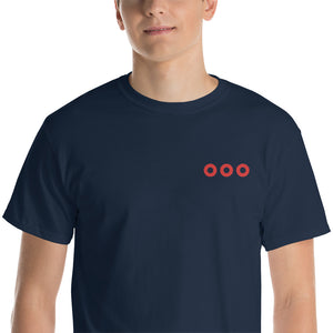 Red Circle Donut X3 Embroidered T-Shirt - PH