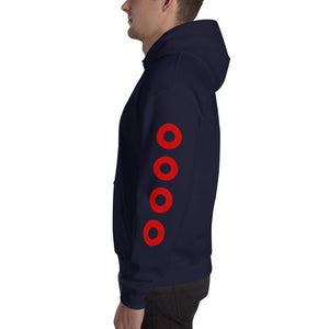 Red Circle Donut on SLEEVES Hoodie - PH