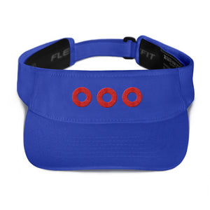 Red Henrietta Donuts Embroidered Visor - PH