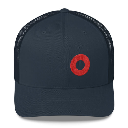 Red Henrietta Donut Ebroidered Trucker Hat Cap - PH