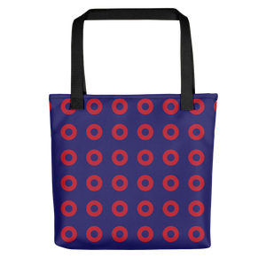 Red Henrietta Circle Donut Pattern Tote Bag - PH
