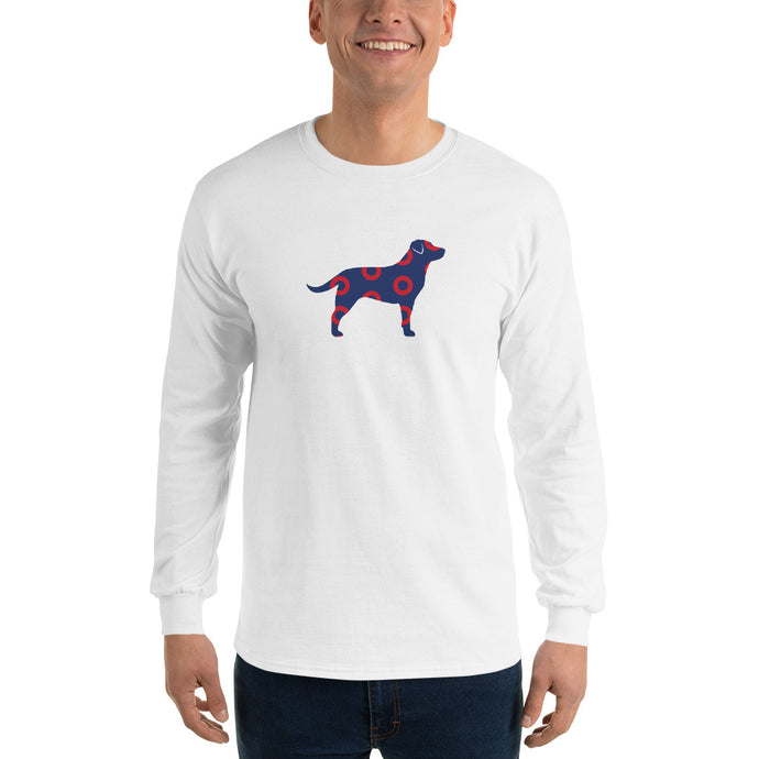 Lab Phan Red Circle Donut Long Sleeve Shirt-Phish Inspired-Phish Donut-Phish LongSleeve Shirt-Red Circle Donut