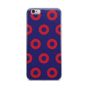 PH Red Circle Donut iPhone Case Skewed